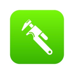 Universal spanner icon green vector