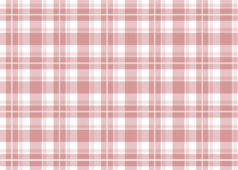 Red checkered tablecloth. Red gingham seamless pattern. Texture from squares for plaid, tablecloths and other textile products. Vector illustration