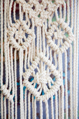 Macrame bound of a white rope