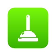 Plunger icon green vector