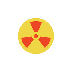 colored sign of radiation icon. Element of science and laboratory for mobile concept and web apps. Detailed sign of radiation icon can be used for web and mobile. Premium icon