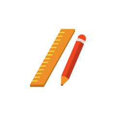 colored Ruler and pencil icon. Element of science and laboratory for mobile concept and web apps. Detailed Ruler and pencil icon can be used for web and mobile. Premium icon