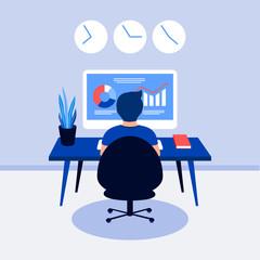 Data analysis design concept.