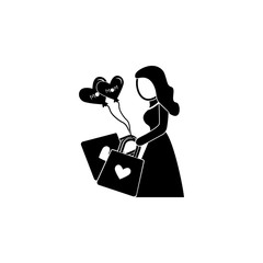 purchases for mother's day icon. Element of mother day for mobile concept and web apps. Detailed mother with purchases for mother's day icon