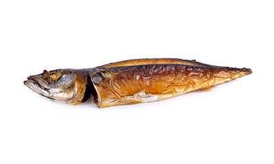 grilled pacific makcerel (Saba) fish on white background