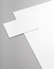 Business cards and letterhead mock up