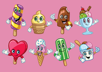 ice cream cartoon character