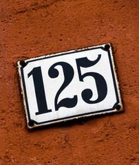 Hausnummer 125