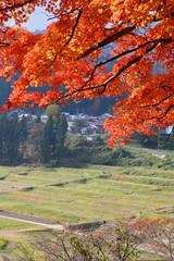 福満虚空蔵尊円蔵寺の紅葉(福島県・柳津町)