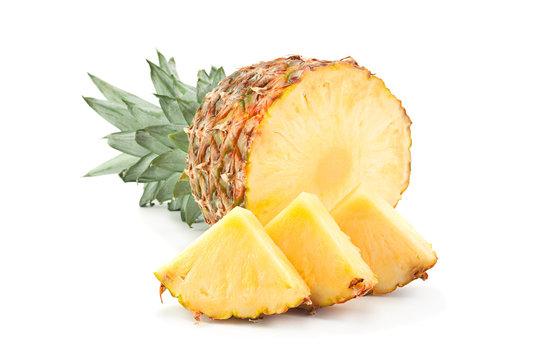 Pineapple tropical fruit closeup