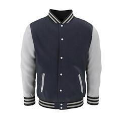 Baseball Jacket on white. Front view. 3D illustration
