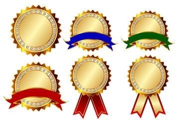 メダル フレーム 金 アイコン