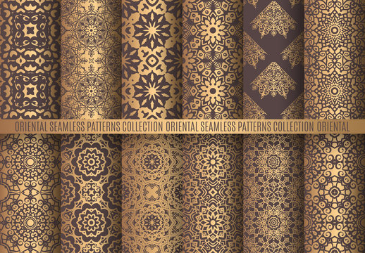 Golden Arabesque Patterns