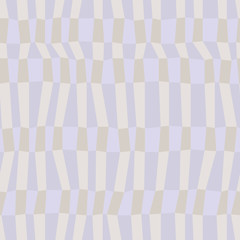 Gray and blue neutral colored chaotic striped geometric seamless pattern, vector