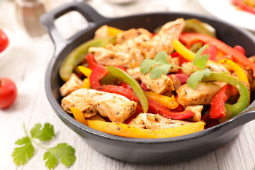 chicken and bell pepper