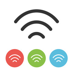 Wifi vector thin line one flat icon