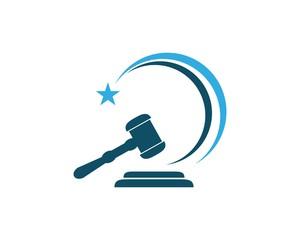 law hammer Logo Template