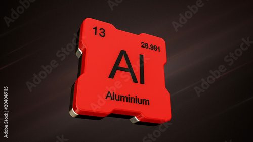 Aluminium element number 13 from the periodic table on futuristic aluminium element number 13 from the periodic table on futuristic red icon and nice lens flare urtaz Image collections