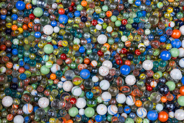 The background of diversity colorful glass marbles