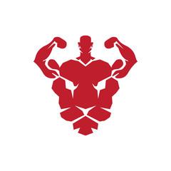Lion Head Fitness Logo Vector Template