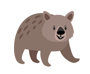 Wombat cute animal icon