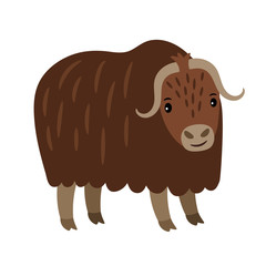 Yak cartoon icon