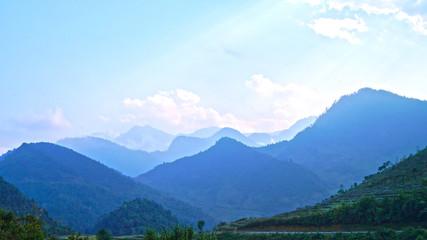 north vietnam mountain landscape