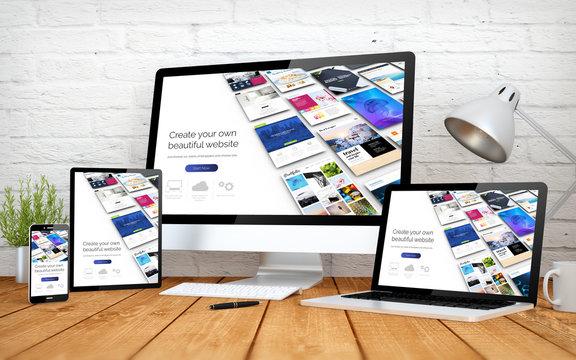website builder responsive design screen multidevices