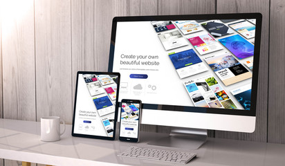 devices responsive on workspace website builder