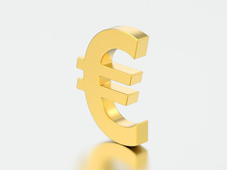 3D illustration gold uero money