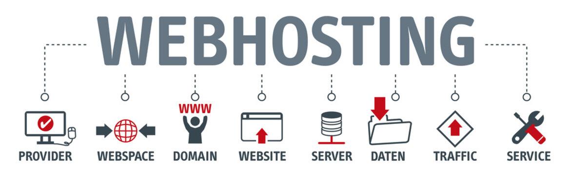 Banner webhosting concept