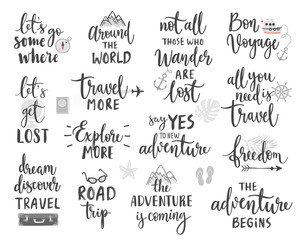 Wall Mural - Travel Lettering Design Set