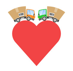 Delivery truck, business cooperation