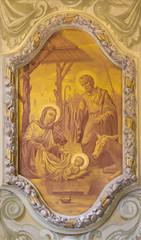 Fototapete - MODENA, ITALY - APRIL 14, 2018: The freso of Nativity in church Chiesa di San Bartolomeo from 17. cent.