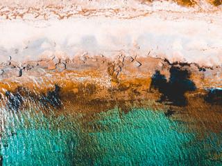 Aerial view of a beautiful mediterranean coastline