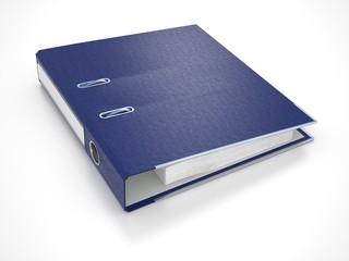 Blue Folder Isolated on White. 3d.