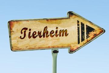 Schild 328 - Tierheim