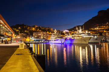 Port of Monaco by Night