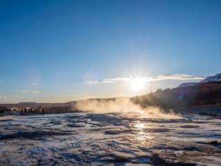 Geysir hot spring in Iceland