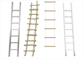 Set of different ladders