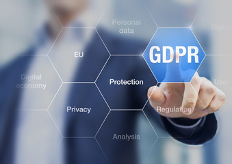 GDPR General Data Protection Regulation for European Union concept, internet