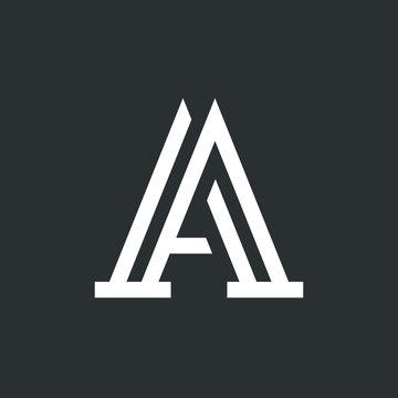 Creative elegant line curve vector logotype. Premium letter A logo design. Luxury linear creative monogram.