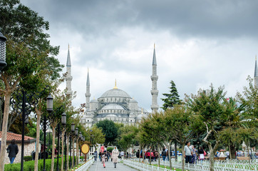 The Blue Mosque, Sultanahmet Camii , Istanbul, Turkey