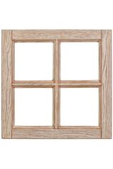Wooden windows frame, empty window