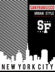 design vector skyline varsity for t shirt print men