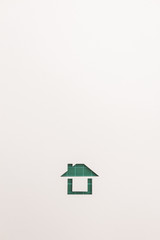 background of green cutting easy house icon