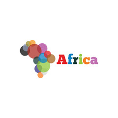 Africa abstract logo icon template