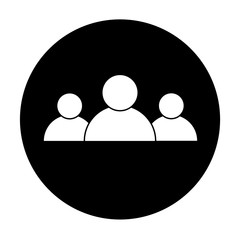 people icon on white background. flat style. people sign. group people symbol.