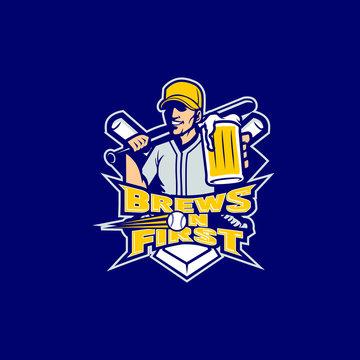 beer baseball clip art