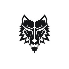 geometric wolf clip art